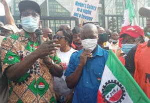 NLC Pickets CAC ,  hired thugs attempted to set AUPCTRE vehicles ablaze