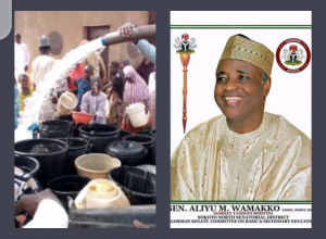 Wamako supplies water to residents of Sokoto city amidst biting water scarcity